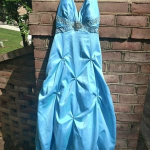 Turquoise Blue Evening, Prom, Pageant Gown